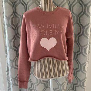 Nashville Stole My ❤️ Cropped Sweatshirt